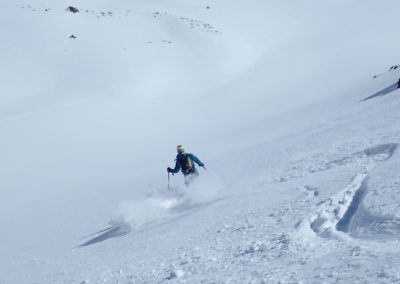 Raid ski randonnée Cerces - Guide au travail