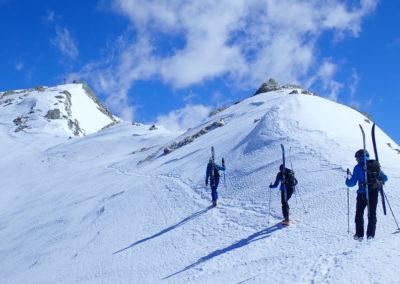 Raid ski randonnée Cerces - Arrivée à la Pointe