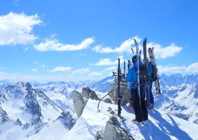 Raid ski randonnée Cerces - On est bien là!