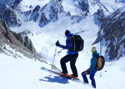 Raid ski randonnée Cerces - Plongée dans le raide