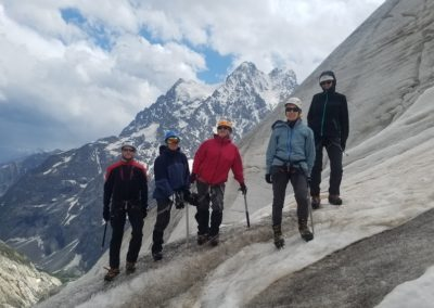 Stage initiation alpinisme - L'équipe sur le Glacier