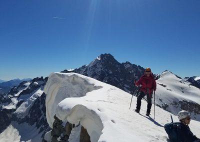 Stage initiation alpinisme - Brigitte en finit avec la bosse d'Arsine