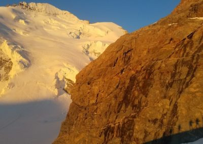 Stage initiation alpinisme - Levé de soleil sur la Roche Faurio