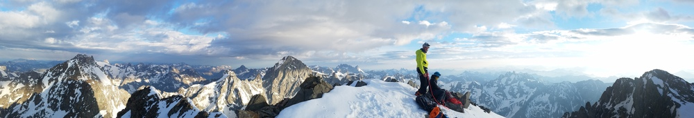 Traversée du Pelvoux - Au sommet