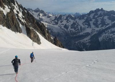 Traversée du Pelvoux - Glacier des Violettes