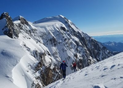 Ski d'été Mont Rose - Sur fond de Punta Gnifetti