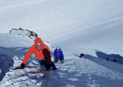 Ski d'été Mont Rose - Pente déjà raide!