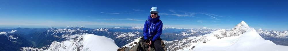 Ski d'été Mont Rose -  A cheval sur le Corno Nero