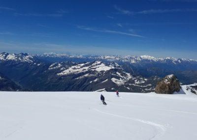 Ski d'été Mont Rose - Ski avec vue