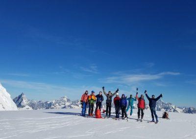 Ski d'été Mont Rose - La meute au Col du Lys