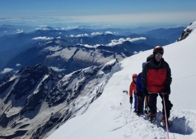 Ski d'été Mont Rose - Sur l'arête de la Zumstein