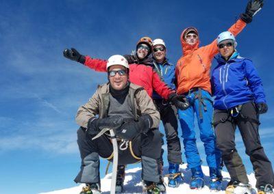 Ski d'été Mont Rose - Au sommet de la Zumstein