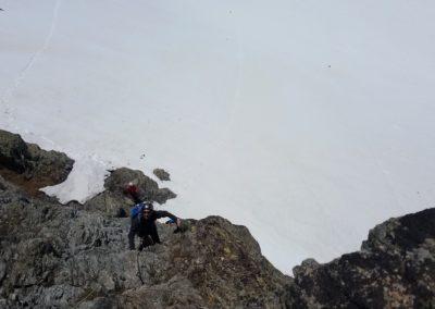 Stage autonomie - Ecole rocher - Au départ de la voie Molinatti