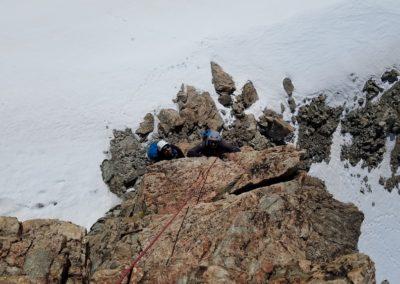 Arête sud Glacier Blanc - L'attaque