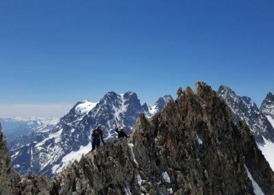 Arête sud Glacier Blanc - L'arête