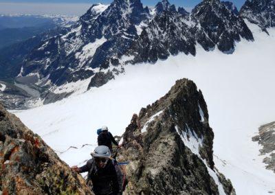 Arête sud Glacier Blanc - Aérien