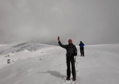 Pic d'Arsine - Pim et Jelle sur le Glacier