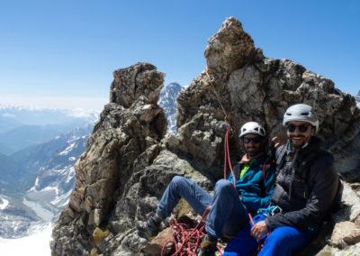 Arête sud Glacier Blanc - Petite pause
