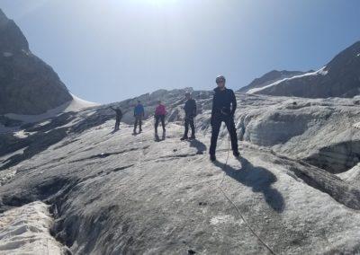 Initiation découverte alpinisme - Sur le glacier Blanc