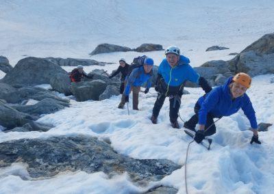 Initiation découverte alpinisme - Pic d'Arsine, partie raide
