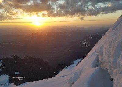 Traversée Pavé Meije Orientale - Synchro avec le levé de soleil