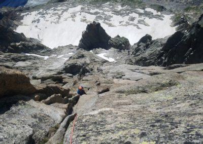 Fin de l'éperon de Grépon Mer de glace, du IV qui grimpe!