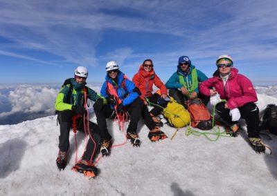 Au sommet de Castor - 4000m du Mont Rose