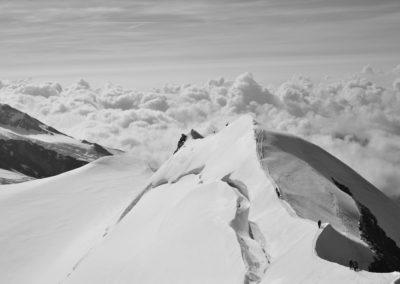 La belle arête de Castor,  4000m du Mont Rose