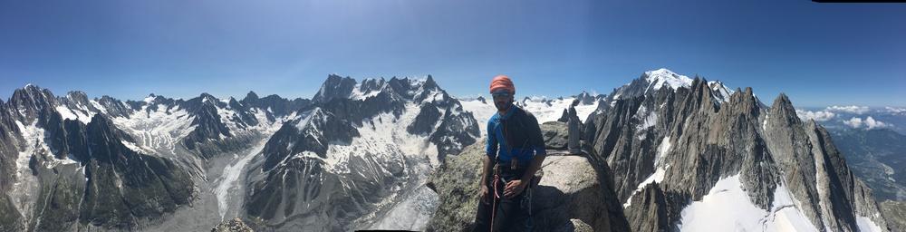 Panorama au sommet du Grépon