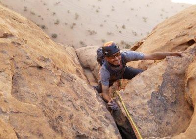 Barrah canyon - Storm - Fin du passage en 6a
