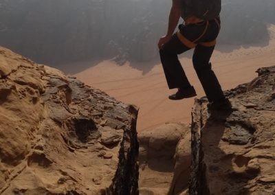 Wadi Rum - Voie Bédouine - Saut de crevasse