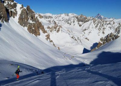 Raid ski - Col de Stroppia - Au dessus du Col