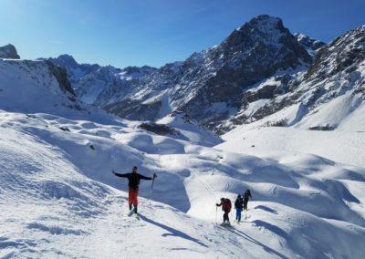 Raid ski - Col Bellino - En route vers Mélezé
