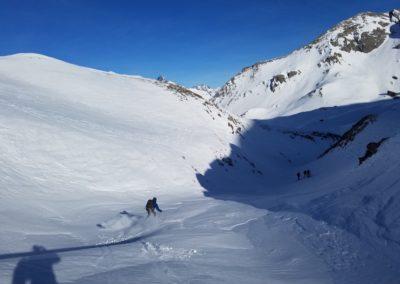 Raid Ski - Col Bellino - L'entrée du Barricate