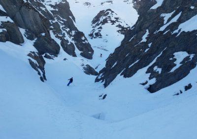 Raid Ski - Col Bellino - Dans le canyon