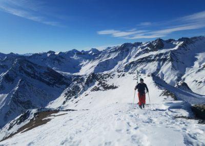 Raid Ski - Monté Vigna - Sur l'arête