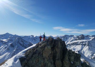 Raid Ski - Monté Vigna - Au sommet