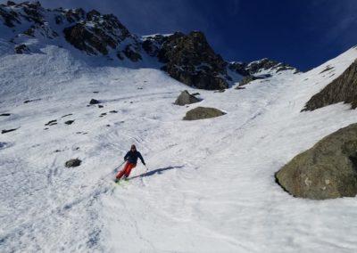 Raid Ski - Monté Vigna - Deux chamois se cachent sur la photo