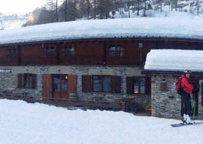 Raid Ski - Monté Vigna - Arrivée au refuge Mélezé