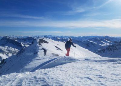 Raid Ski - Pic de Malacoste - Arrivée au sommet