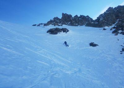 Raid Ski - Pic de Malacoste - Dans le couloir, excellent!