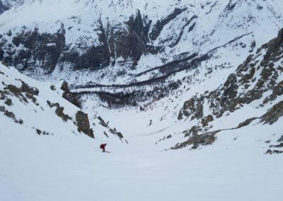 Raid Ski - Couloir de l'Eyssiloun