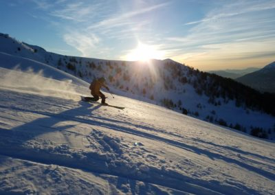 Freerando Risoul - Ski sunset