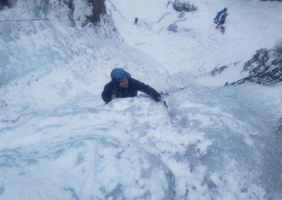 cascade glace - Colère du Ciel - Louis dans le ressaut raide