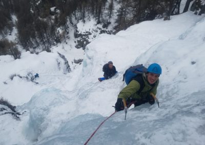 cascade glace - Colère du Ciel - Aurélien et Pierrot en termine