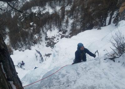cascade glace - Colère du Ciel - Louis au finish