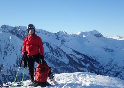 Raid ski - Tête de Miéjour - Ugo au top