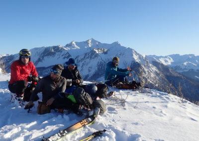 Raid ski - Tête de Miéjour - La team