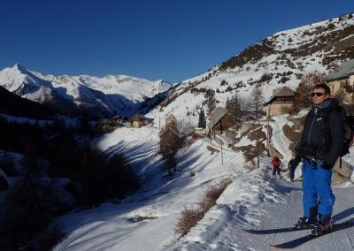 Raid ski - Col de Stroppia - Quentin au départ de Fouillouse