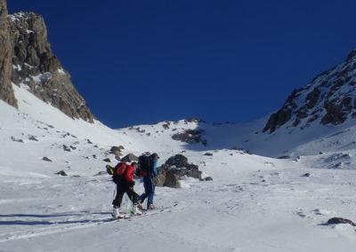 Raid ski - Col de Stroppia - Col en vue